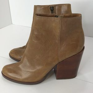 Dolce Vita camel leather booties SZ: 7 1/2
